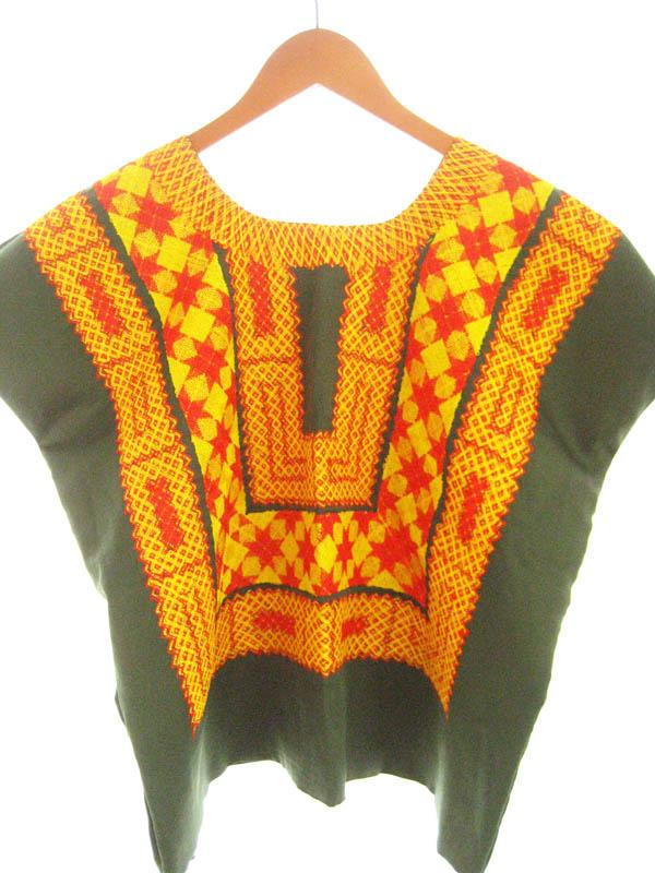 Fridita Vintage Mexican Blouse Embroidered Huipil