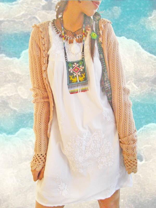 Mexican Dress Ethnic Boho Hippie Tunic