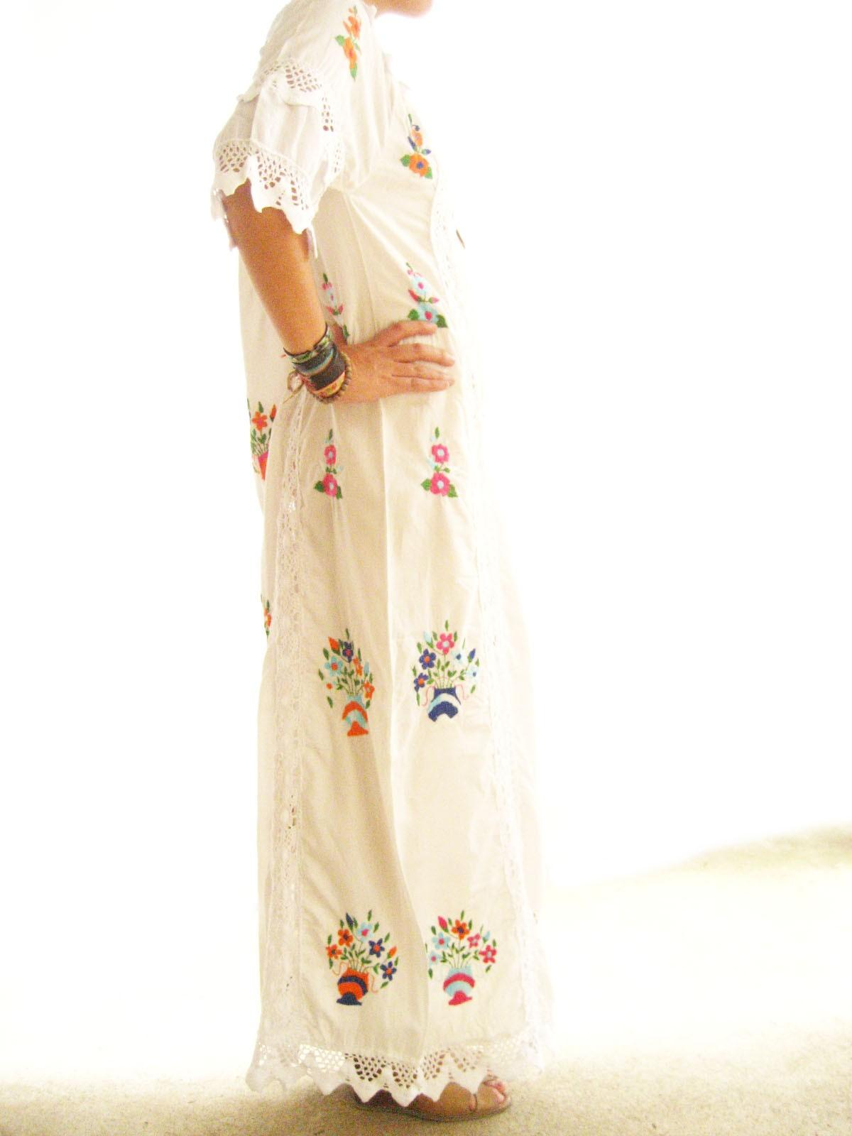 Mexican Cotton Wedding Dress