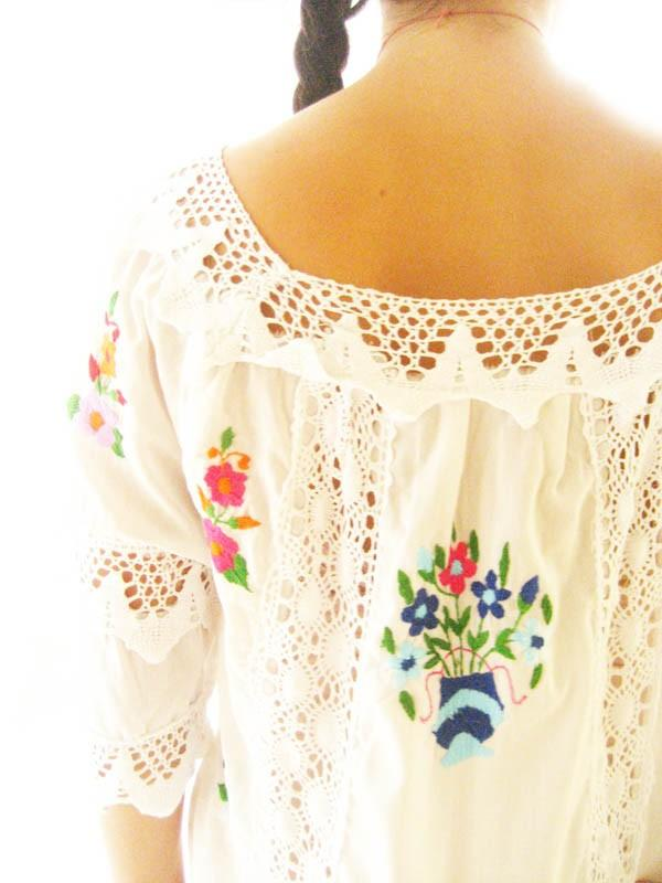 Vintage Mexican Wedding Dresses For  : Handmade mexican embroidered dresses and vintage treasures