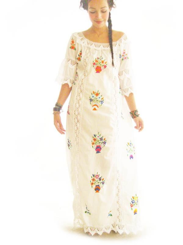 Katrina Mexican Dress boho chic wedding dress
