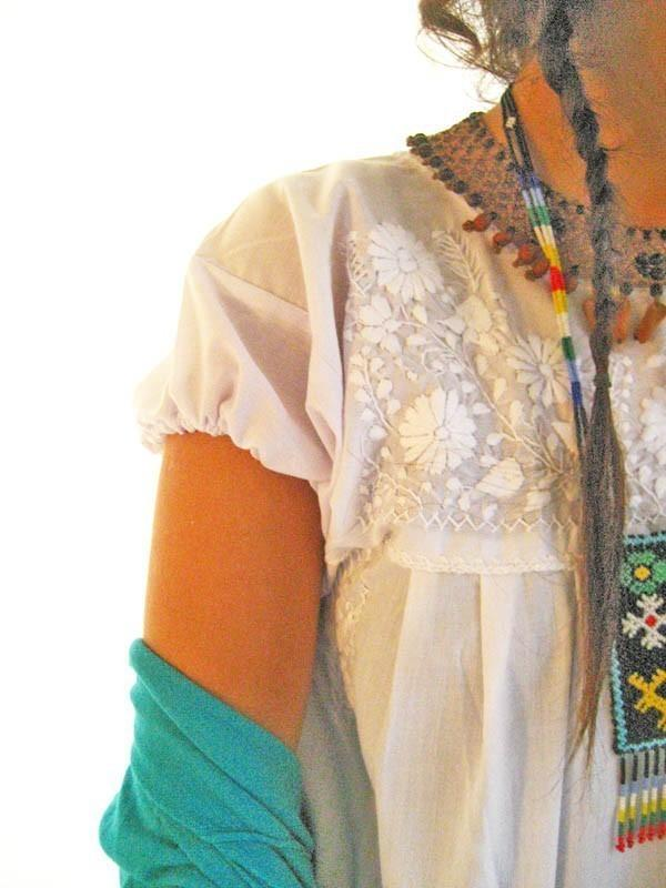 Ethnic Off White Mexican dress