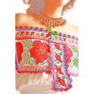 Rosas Rojas Linen Ethnic Juquila Mexican romantic Maxi dress