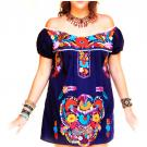 Marino ethnic bohemian embroidered mini tunic