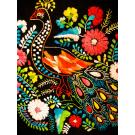 Mexican Peacock embroidered floral dress