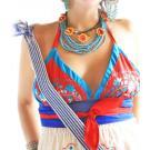 Coral Reef Mexican embroidered bikini